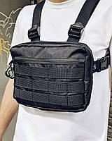 Нагрудная сумка Пушка Огонь Chest черная, фото 1