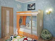 Ліжко горище для дітей і підлітків двоярусне КЧД - 2904