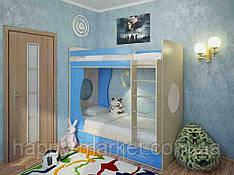 Кровать чердак для детей и подростков двухярусная   КЧД- 2904