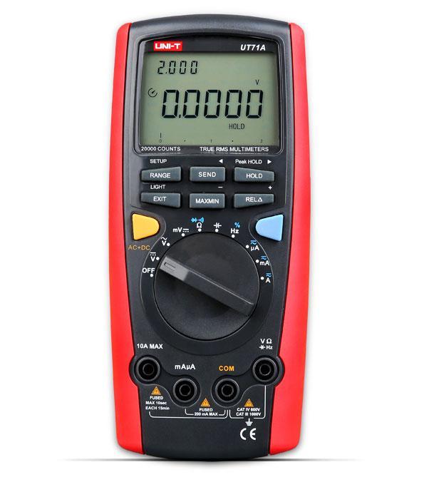 UT71A, мультиметр цифровой UNI-T,True RMS, 20000 отсчётов, USB интерфейс,возможна калибровка в УкрЦСМ