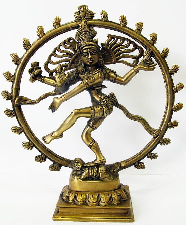 Шива танцующий бронзовый