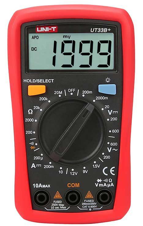 UT33C+ мультиметр цифровой,c функцией измерения температуры,возможна калибровка в УкрЦСМ