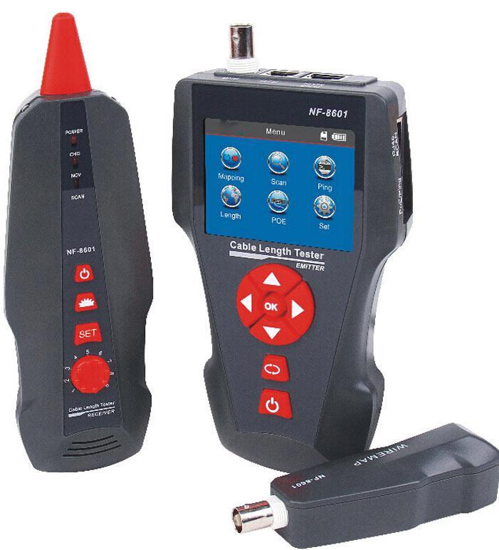 NF-8601 тестер длины кабеля, трассировка, PING и POE - тест,возможна калибровка в УкрЦСМ