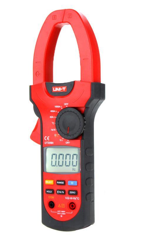 UT208A, 1000A AC/DC, токоизмерительные клещи, с функцией мультиметра,возможна калибровка в УкрЦСМ