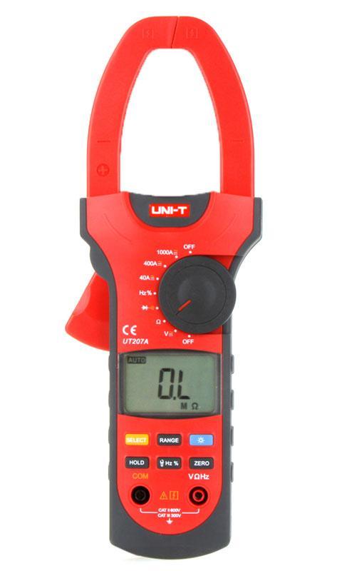 UT207A, 1000A AC/DC, токоизмерительные клещи, с функцией мультиметра,возможна калибровка в УкрЦСМ