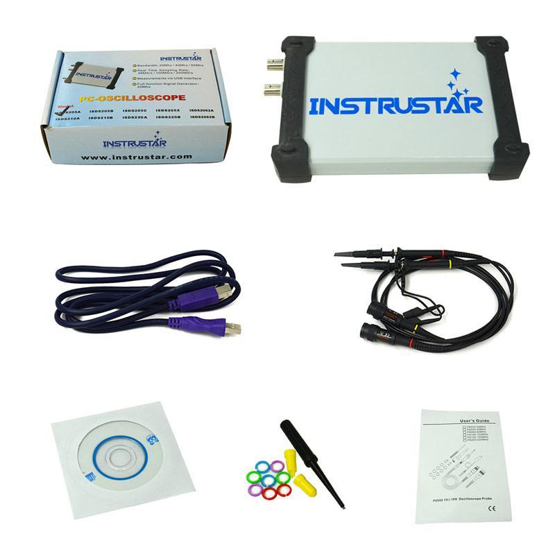 ISDS205A виртуальный осциллограф, 20 МГц, 2 канала,возможна калибровка в УкрЦСМ