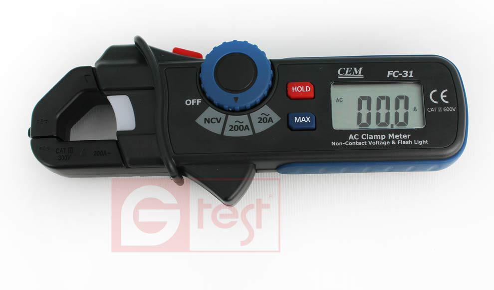 FC31 CEM, 200A AC, токоизмерительные клещи, NCV, 2000 отсчётов,возможна калибровка в УкрЦСМ