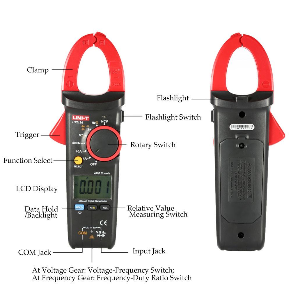 UT213A, 400A AC,токоизмерительные клещиUNI-T,измерение напряжения и сопротивления,возможна калибровка в УкрЦСМ