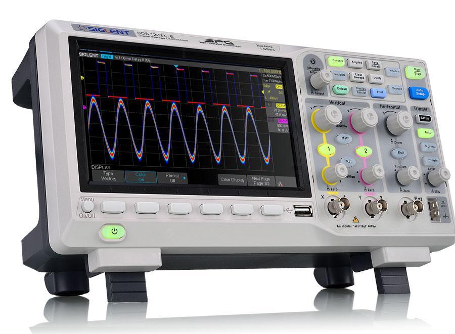 SDS1202X-E осциллограф, 200 МГц, 1ГВ/с, 2 канала,возможна калибровка в УкрЦСМ
