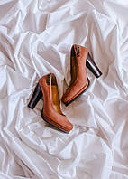 Коричневые туфли на устойчивом каблуке Kordel, размер 38, арт. 0822