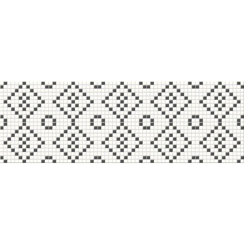 Декор Блек і Вайт Мозаїк 25х75
