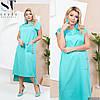 Женское асиметричное платье свободного кроя с карманом 42-44,46-48, 50-52, 54-56, 58-60, 62-64, фото 4