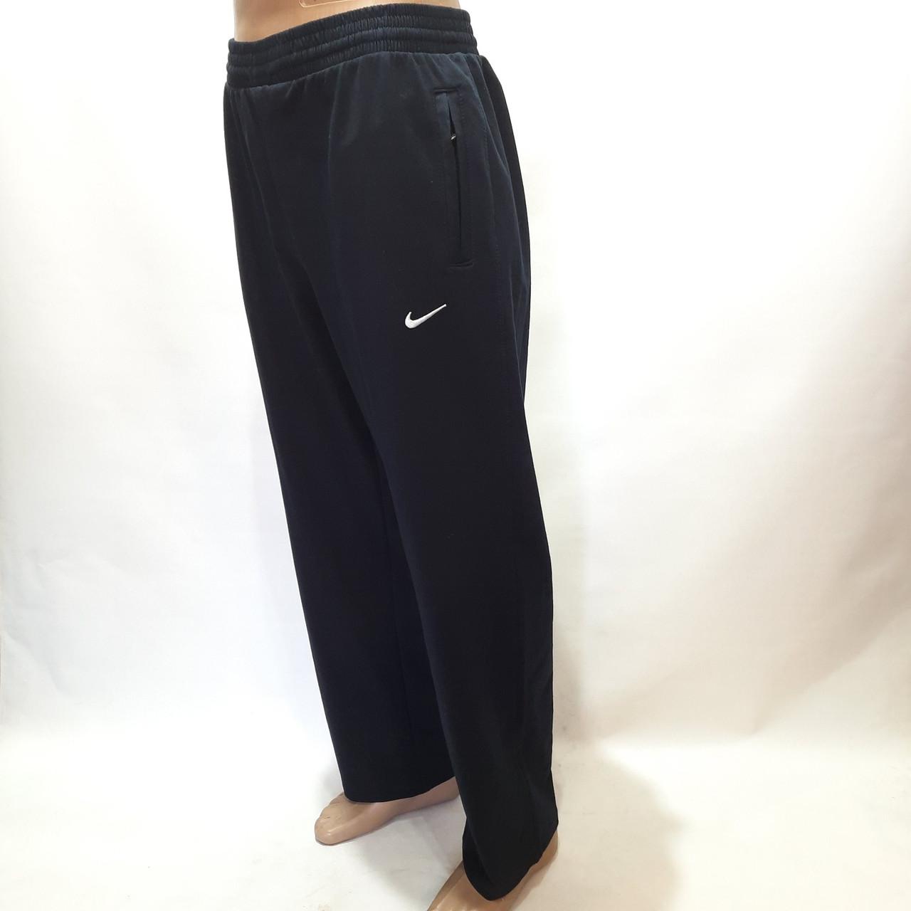 Спортивные штаны прямые в стиле Nike (Больших размеров) 56,58,60,64 отличного качества черные
