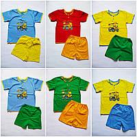 Летний  комплект для мальчика футболка и шорты 8,9,10,11,12 месяцев 1,2,3 года, фото 1