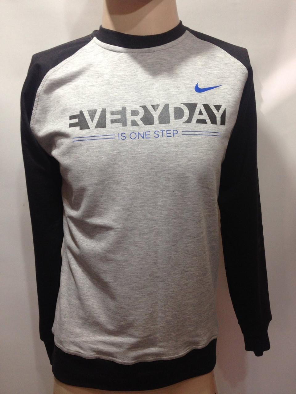 Мужская кофта в стиле Nike Турция светло-серая