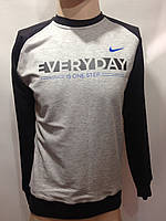 Мужская кофта в стиле Nike Турция светло-серая, фото 1
