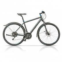 "Велосипед 28"" CROSS Travel Gent 27 spd рама 20"" 2015 серый, фото 2"