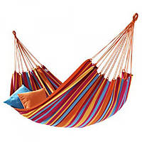 Подвесной гамак без перекладины из толстой ткани Rino 200х80см. 170кг. в чехле Разноцветный (WB571737)