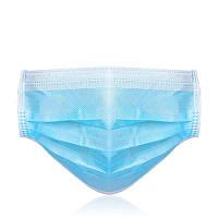 Маска защитная для лица Zuihushi одноразовая трехслойная 100 штук (20134)