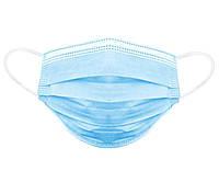 Маска защитная лицевая Zuihushi одноразовая трехслойная 1000 штук Синий (20135)