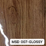 Пленка ПВХ MSD 007-GLOSSY глянцевая с рисунком под дерево для натяжных потолков, ширина рулона 3,2 м., фото 2
