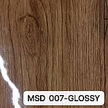 Плівка ПВХ MSD 007-GLOSSY глянцева з малюнком під дерево для натяжних стель, ширина рулону 3,2 м., фото 2