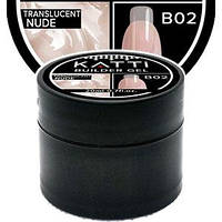 KATTi Gel Builder конструирующий гель для ногтей B-02 translucent nude полупрозрачный 20ml