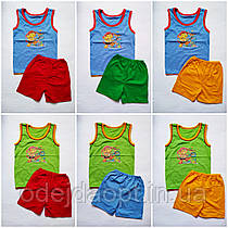 Детский летний комплект для мальчика Майка и Шорты 1,2,3,4,5 лет 7,8,9,10,11,12 месяцев 1,2,3,4,5 лет