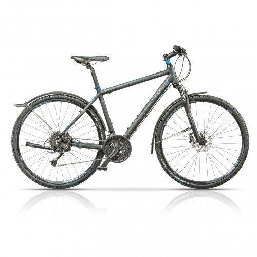 "Велосипед 28"" CROSS Travel Gent 27 spd рама 19"" 2015 серый"