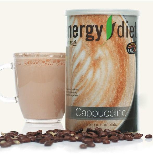Коктейль Капучино Енерджи Диет Energy Diet HD банка идеальная фигура без диет и голода контроль веса Франция