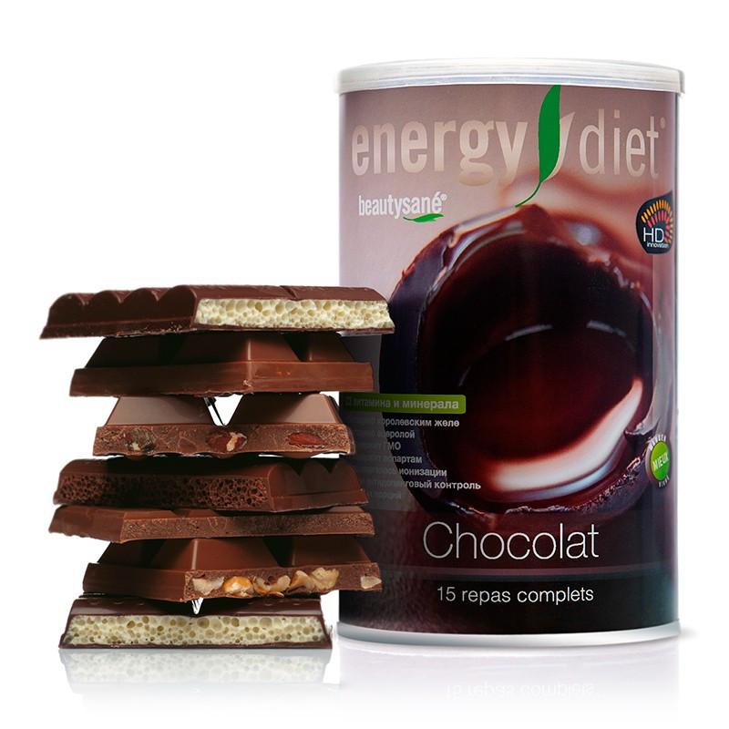 Коктейль Шоколад Энержди Диет Energy Diet HD банка NL похудение и диета без голода натуральный вкус Франция