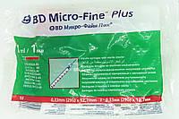 Шприц медицинский одноразовый инсулиновый 1 мл / U-40 / G-29 (0,33*12,7) / BD Microfine, фото 1
