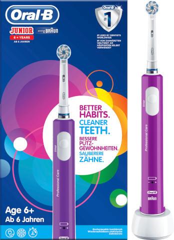 Електрична зубна щітка дитяча Braun Oral-B Junior 6+ Sensi Ultrathin + паста Elmex 6-12 років