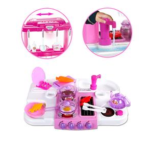 Большая двухсторонняя игровая розовая кухня Happy Little Chef / 768B, фото 2