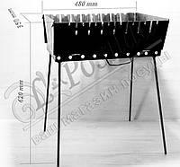 Мангал валізу 2 мм на 8 шампурів