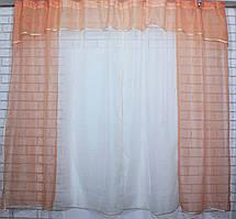 Кухонный комплект №17. Шторки с ламбрекеном. Цвет персиковый с бежевым., фото 2