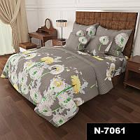 Комплект постельного белья Gold Одуванчики на сером 3 размера Двуспальный