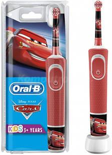 Електрична зубна щітка дитяча + паста Junior 6-12 роківBraun Oral-B Stages Power D100 Cars/Тачки