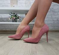 Туфли лодочки пудровые на шпильке, фото 1