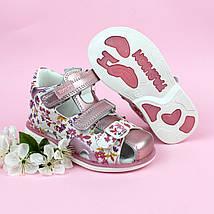 Босоножки детские для девочки Цветочки размер 21,23, фото 3