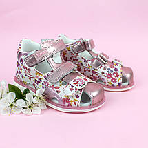 Босоножки детские для девочки Цветочки размер 21,23, фото 2
