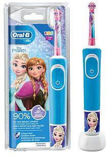 Електрична зубна щітка дитяча + паста Junior 6-12 років Braun Oral-B Stages Power D100 Frozen