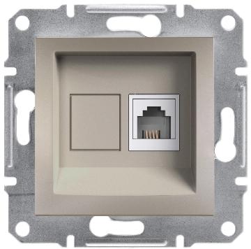 Розетка телефонная RJ11 4 конт. Asfora, бронза, EPH4100169