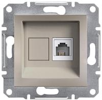 Розетка телефонная RJ11 4 конт. Asfora, бронза, EPH4100169, фото 1