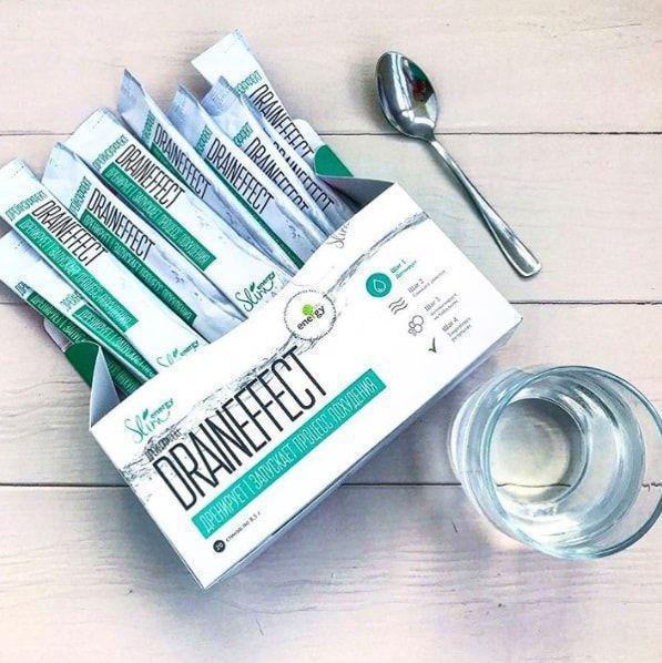 DrainEffect Дрейн Эффект супер система очистки и похудение очищающий напиток энерджи слим диета драйн зеленый