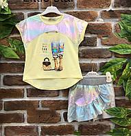 Юбка-шорты и футболка для девочек 5-12 лет Турция Little star