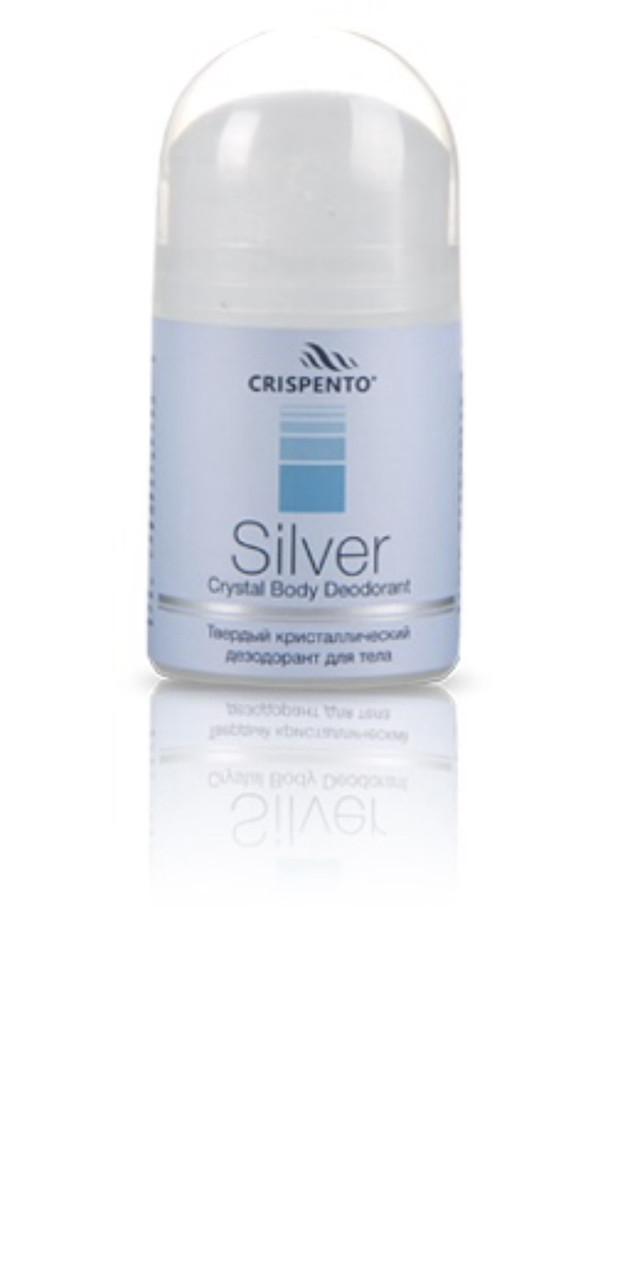 Твердый кристаллический дезодорант для тела Silver