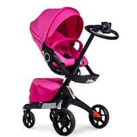 Детская коляска DSLandXplory V8 2в1 Pink (Розовая) Аналог Stokke Прогулочный блок