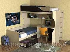 Кровать чердак с нижним спальным местом,    КДРС-2904