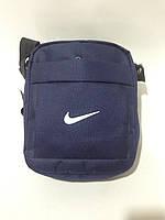 Сумка мужская спортивная через плечо в стиле Nike / синяя, фото 1